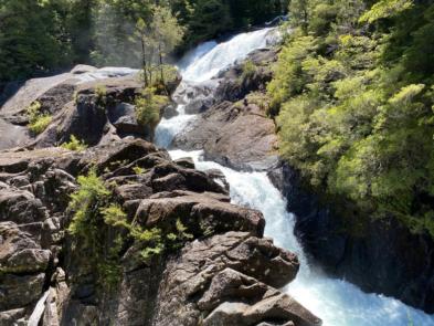 cascada en trekking