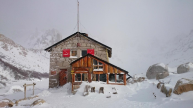 nieve en refugio frey