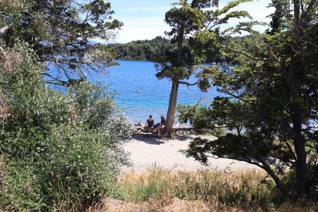 playa sin viento en bariloche ideal para ir en verano